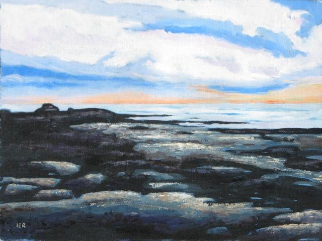 Sunset cliffs w clouds
