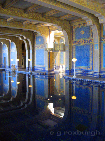 under Hearst's castle, a view of the Neptune pools
